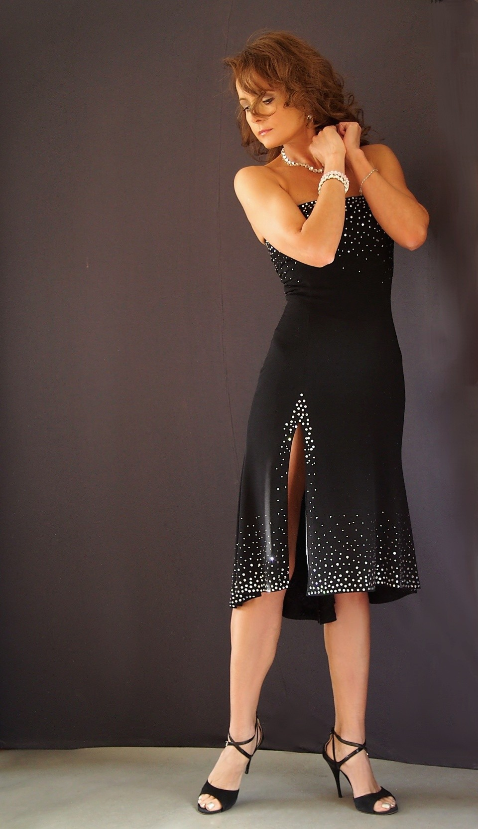 ta-008  tango dress with Swarovski crystals