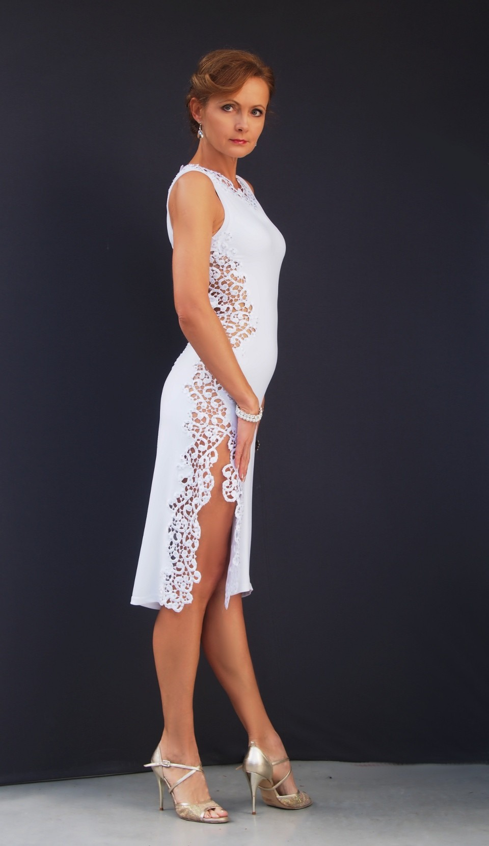 ta 100  tango dress with Swarovski crystals